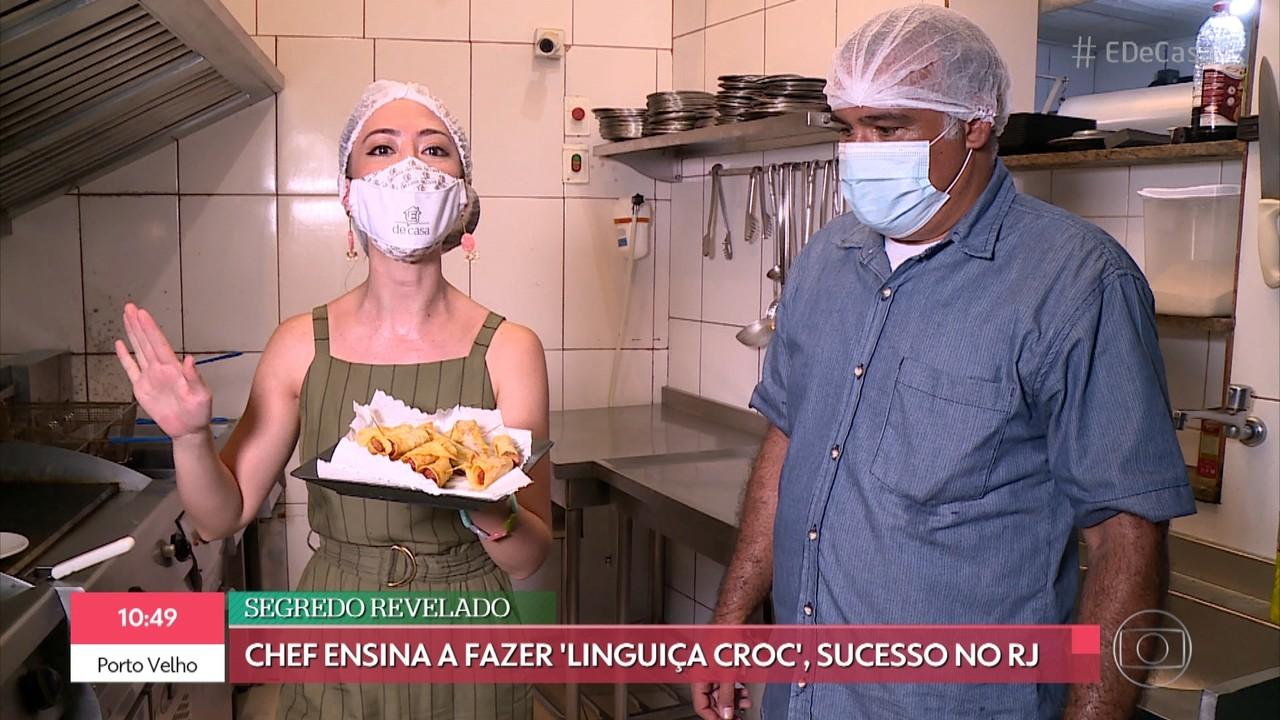 Chef ensina a fazer linguiça crocante com batata frita; aprenda