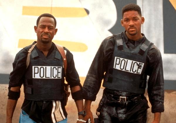 Os atores Will Smith e Martin Lawrence como seus personagens em Os Bad Boys (Foto: Reprodução)