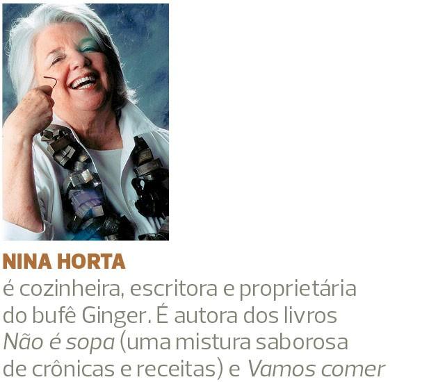 Assinatura Nina Horta (Foto: divulgação)