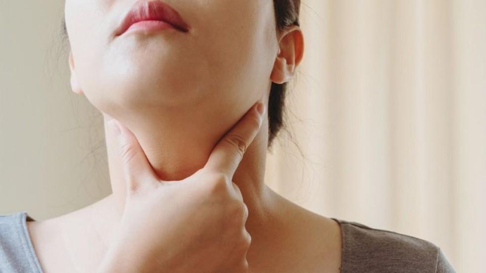 O inchaço dos gânglios é um dos sintomas de linfoma — Foto: Getty Images via BBC