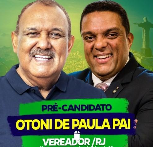 Otoni Pai será candidato a vereador pelo Solidariedade, partido que está na coligação do atual prefeito do Rio