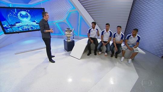 Cruzeirenses visitam Globo Esporte e contam dramas e emoções da Copa BR