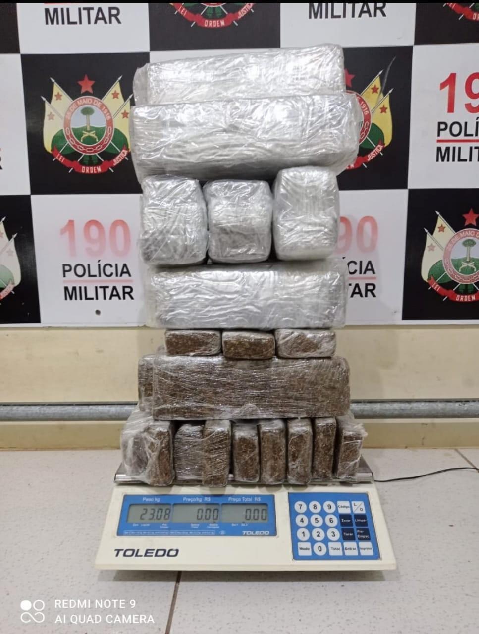 Em menos de 24 horas, polícia apreende mais de 40 quilos de droga em bairros de Rio Branco