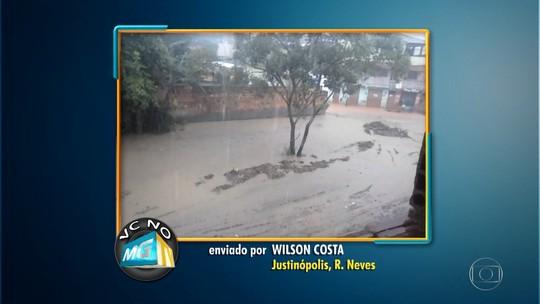 Basta chover para córrego transbordar em Ribeirão das Neves, na Grande BH