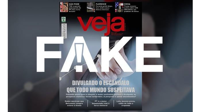 Cena Subrayar Afirmar  É #FAKE capa da revista Veja sobre escândalo das pesquisas eleitorais  compradas | Fato ou Fake | G1