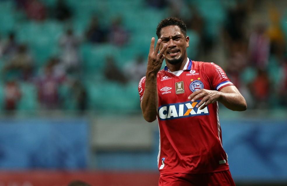 Hernane anotou três gols nesta quarta (Foto: Felipe Oliveira/Divulgação/EC Bahia)