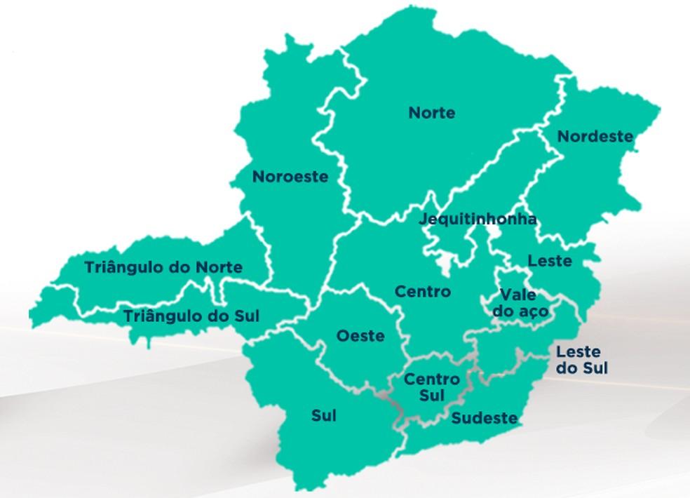 Todas as macrorregiões do estado estão na onda verde do Minas Consciente — Foto: Governo de Minas/ Divulgação