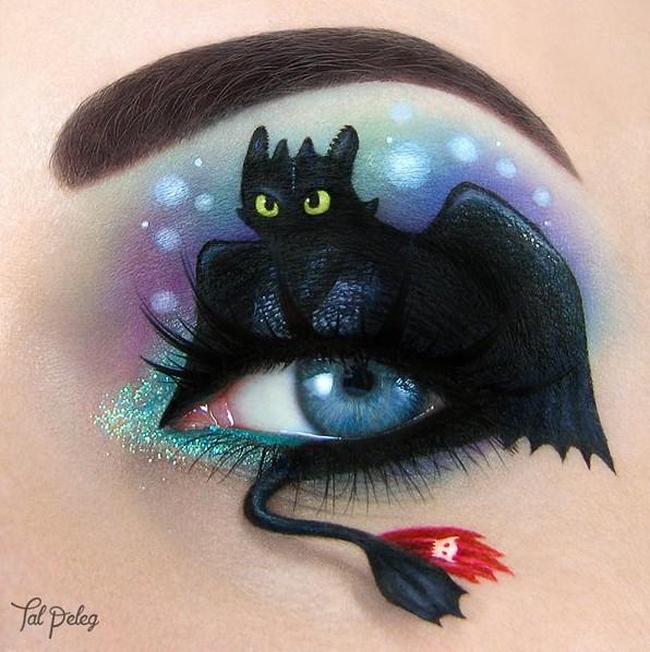 Maquiagem de 'Como treinar o seu Dragão' feita por Tal Peleg (Foto: @tal_peleg/Instagram)