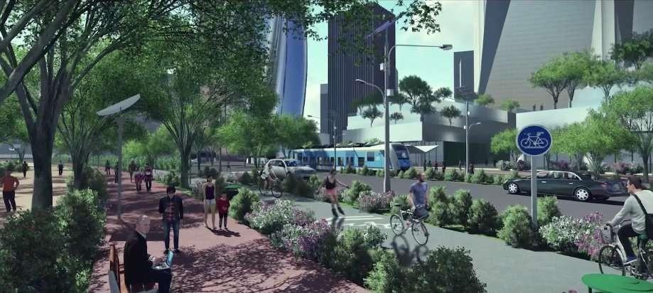 Sistema de transportes projetado (Foto: Divulgação)
