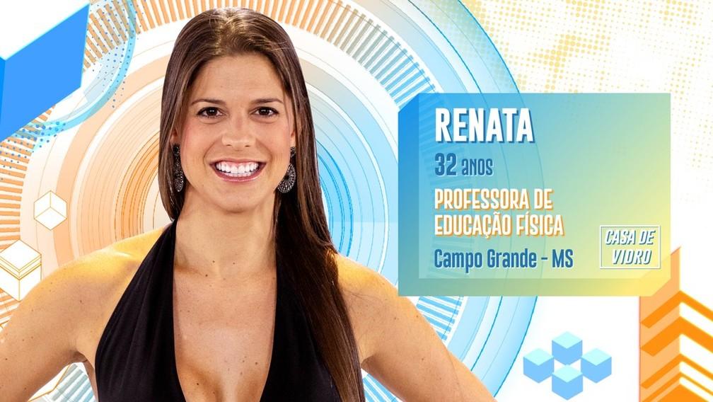 Renata participa da casa de vidro do 'BBB20' — Foto: Divulgação/Globo