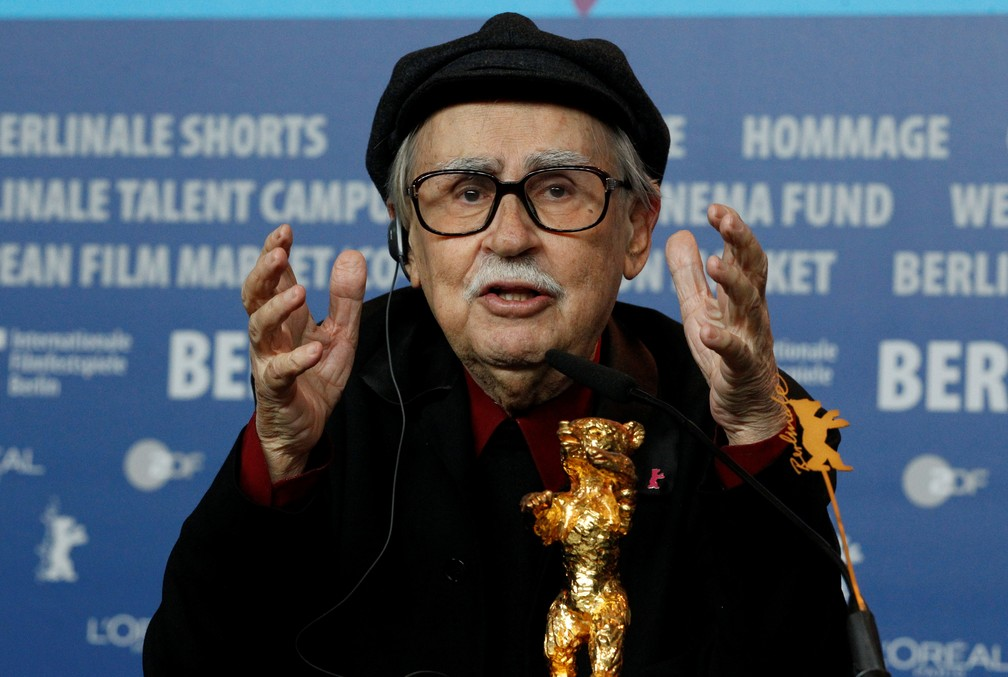 O cineasta italiano Vittorio Taviani no Festival de Cinema de Berlim em 2012 (Foto: Tobias Schwarz/Reuters/File Photo)