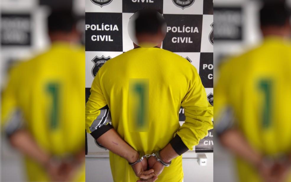 Foragido da Justiça do Maranhão, homem de 40 anos é preso em Valparaíso de Goiás — Foto: Polícia Civil de Goiás/Divulgação