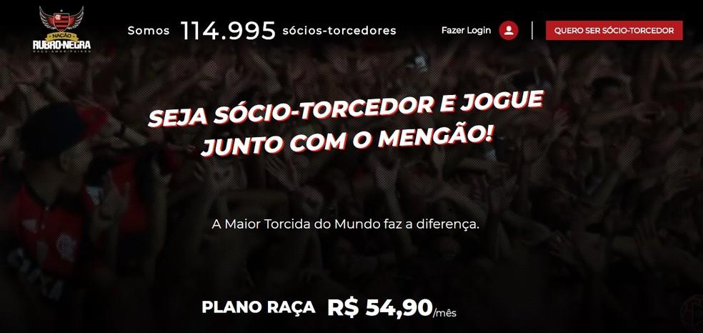 O Flamengo conta com quase 115 mil sócios-torcedores durante a crise — Foto: Reprodução