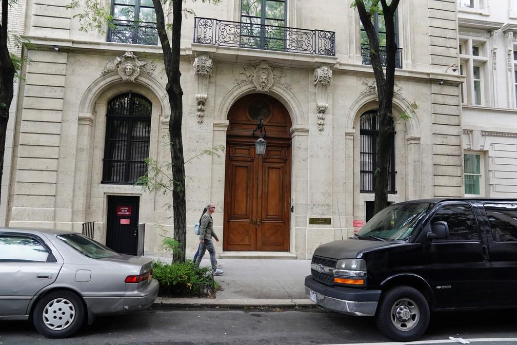 A casa de Jeffrey Epstein em Nova York. — Foto: Carlo Allegri/Reuters