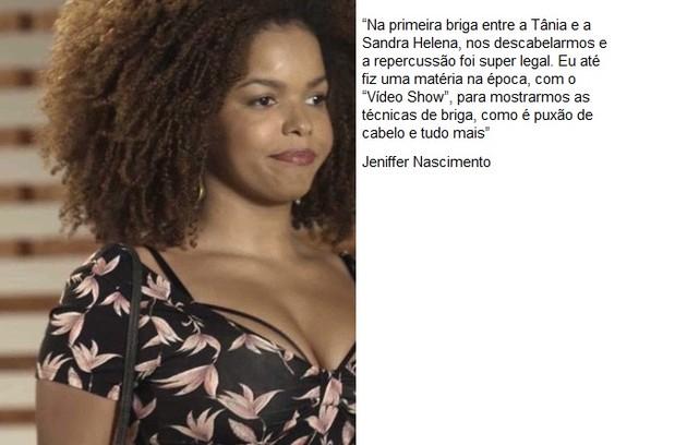 Jeniffer Nascimento interpreta Tânia em 'Pega pega' (Foto: TV Globo)