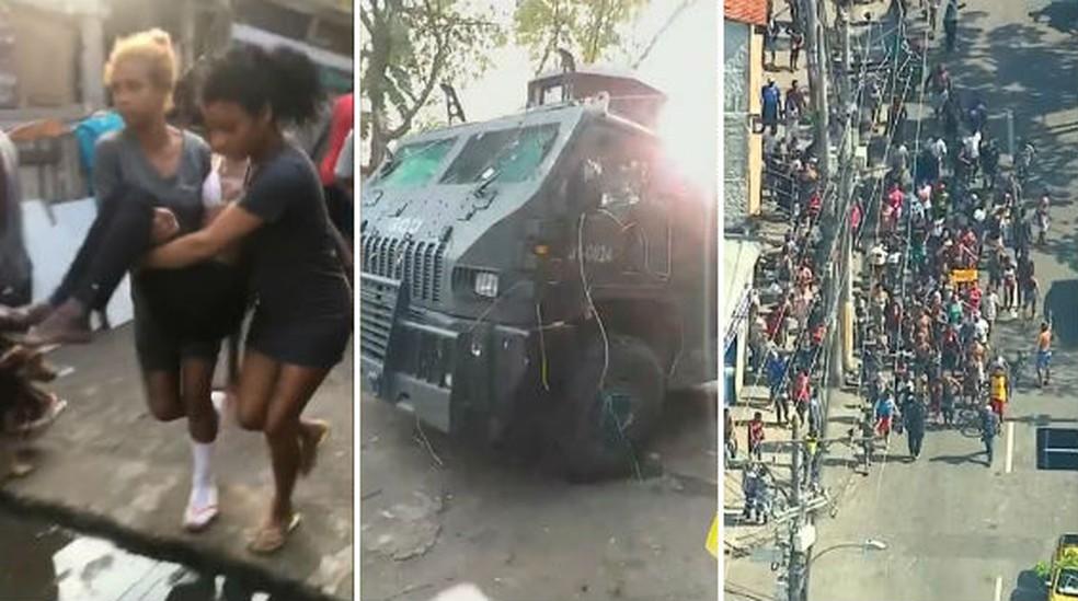 Moradores acusam polícia de destruir barracos na Cidade de Deus — Foto: Reprodução