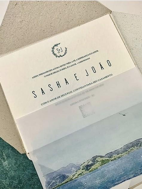 Detalhes do convite sustentável de Sasha e João (Foto: Reprodução/Instagram)