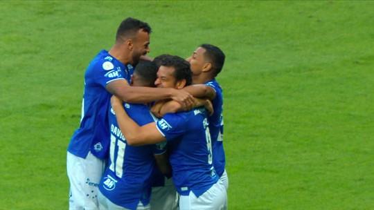 Assista aos gols da vitória do Cruzeiro sobre o Santos no Mineirão