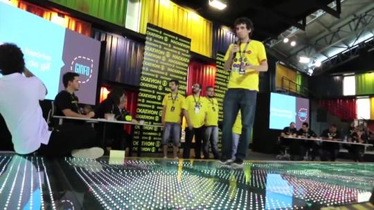 Grupo 3 vence Hackathon Globo 2016 com projeto de GIFs; o GINFO