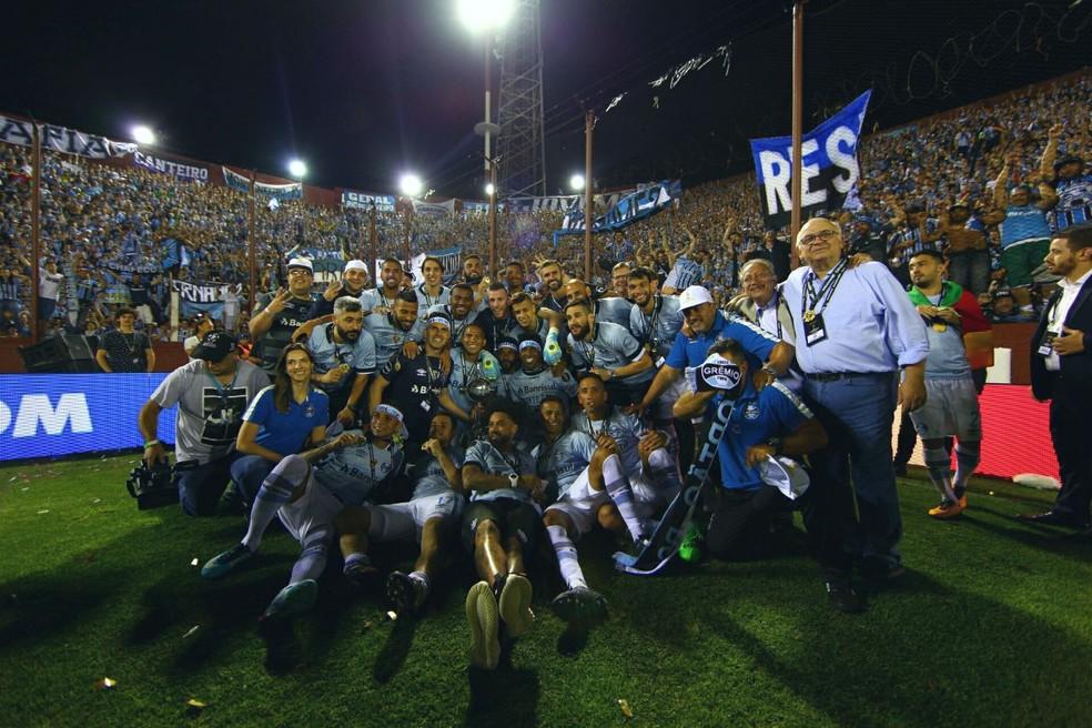 Grêmio foi campeão em 2017 — Foto: Lucas Uebel / Grêmio F.B.P.A.