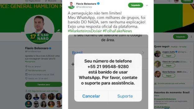 O senador eleito pelo Rio e filho de Bolsonaro é um dos principais responsáveis pela estratégia do pai nas redes sociais (Foto: Twitter/Reprodução via BBC News Brasil)