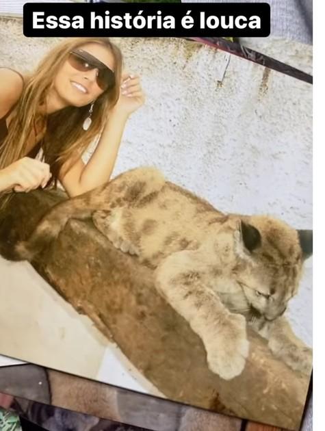 Rafa Brites e seu puma de estimação (Foto: Reprodução Instagram)