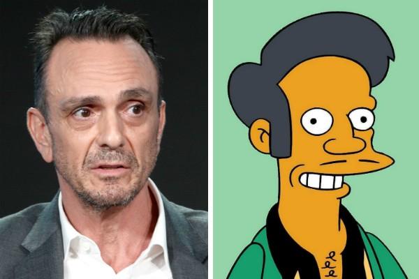 O ator Hank Azaria e o personagem Apu dos Simpsons (Foto: Getty Images/Reprodução)