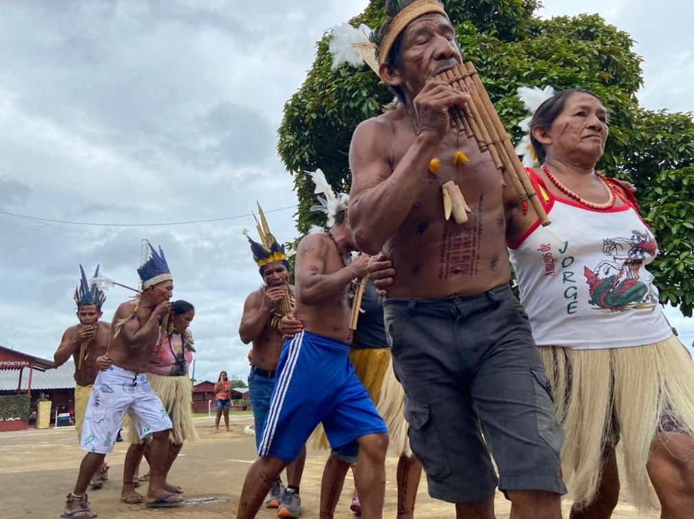CALHA NORTE - Terra Indígena Iauaretê: Povoado é composto por 3 mil indígenas de 8 etnias.  — Foto: Mayara Subtil/Rede Amazônica