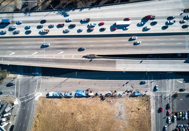 Desigualdade em Oakland, Estados Unidos (Foto: Johnny Miller)