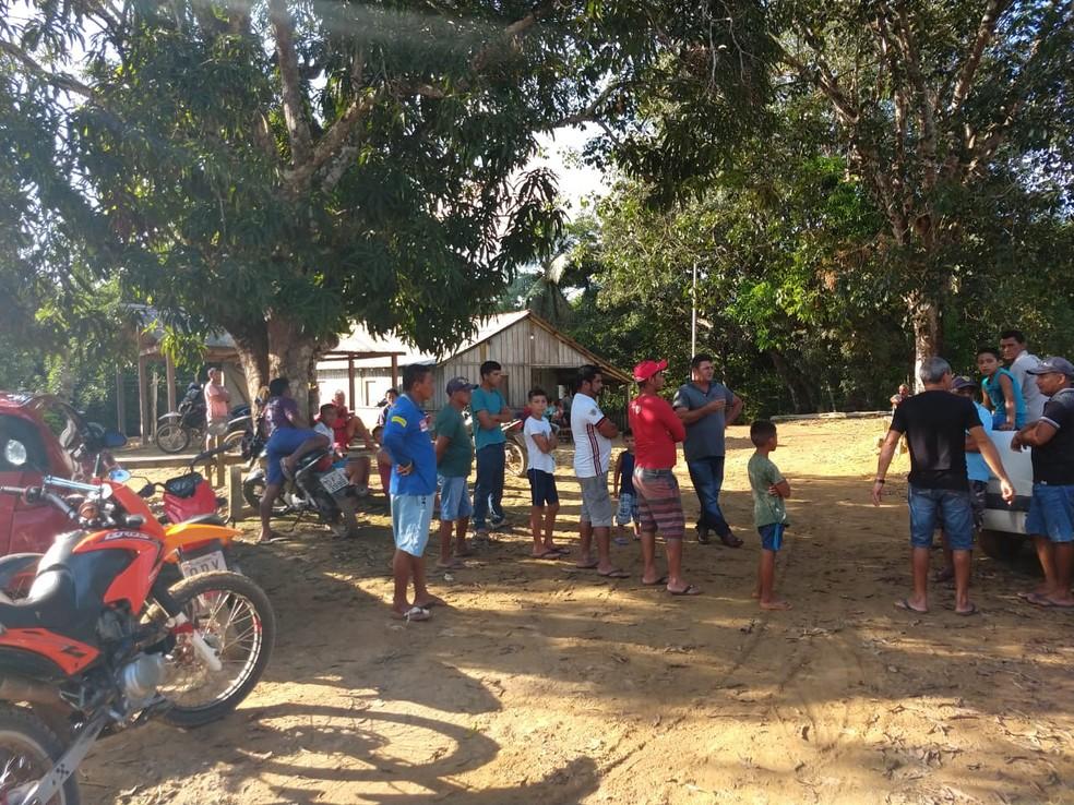 Local onde aconteceu crime é de difícil acesso — Foto: Débora Rodrigues/TV Tapajós