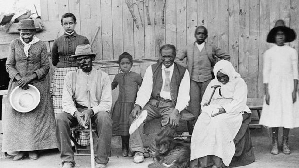 Harriet Tubman (no canto esquerdo da fotografia) se tornou um símbolo do abolicionismo. — Foto: Getty Images via BBC