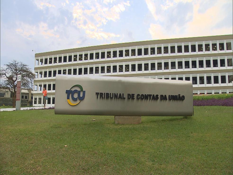 Fachada do Tribunal de Contas da União (Foto: TV Globo/Reprodução)