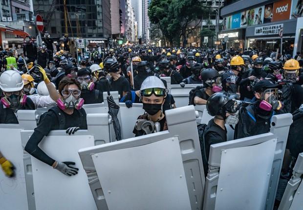 Protestos contrários ao governo em Hong Kong (Foto: Anthony Kwan/Getty Images)