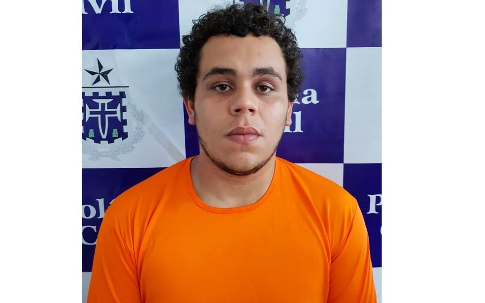 Estudante de direito, de 20 anos, já tinha passagem pela polícia (Foto: Divulgação/Polícia Civil)