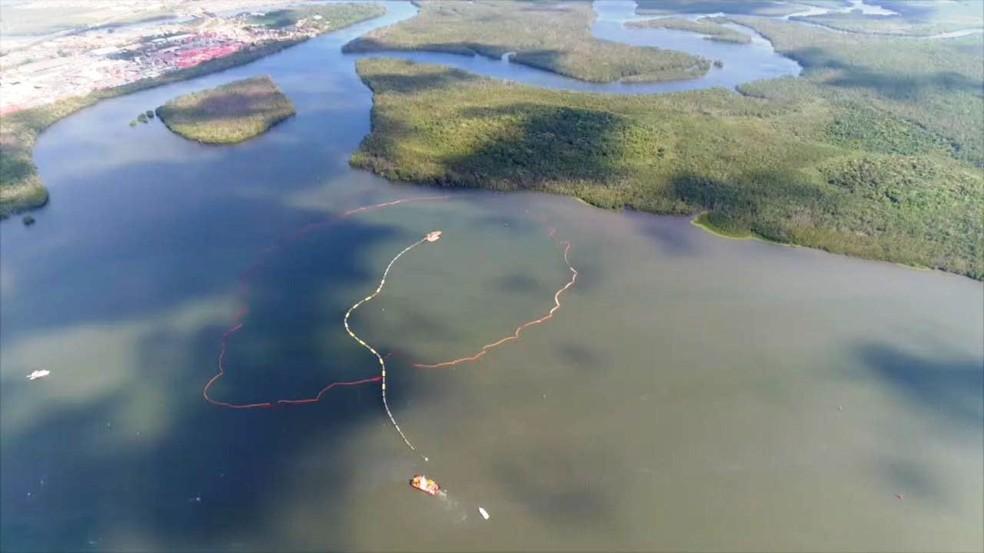 Cava submarina foi aberta na confluência do Estuário com Piaçaguera (Foto: Divulgação )