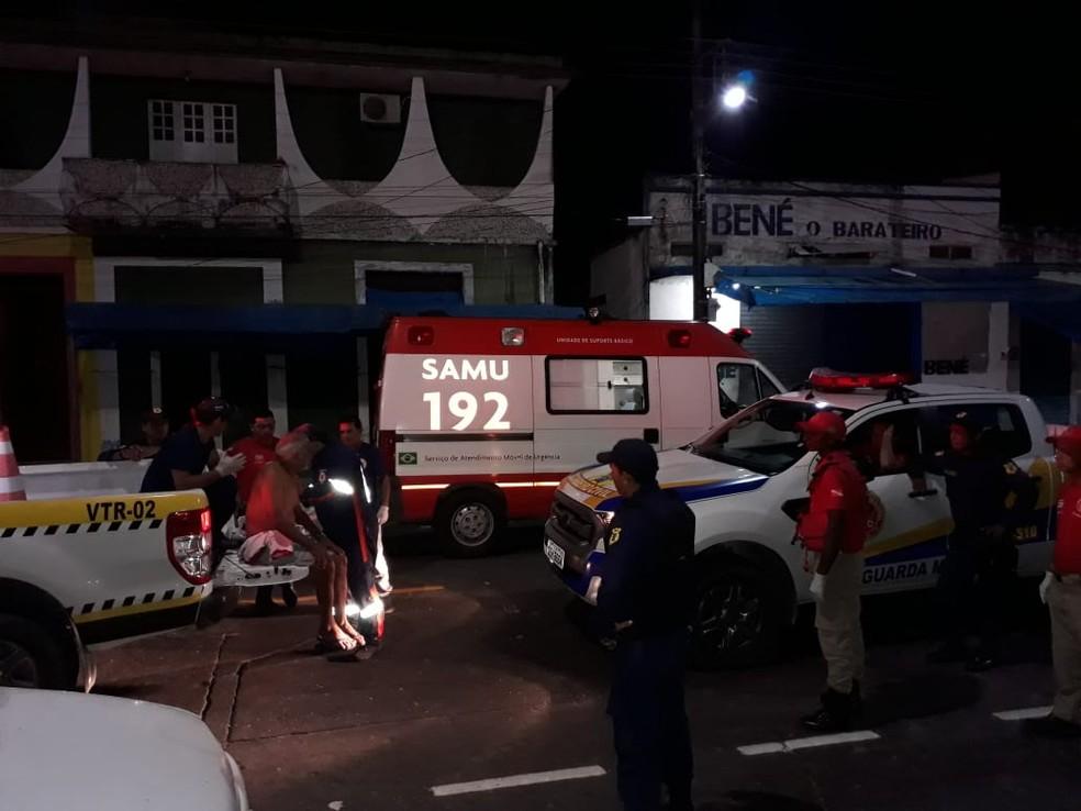 PM, Polícia Civil, Samu e Guarda Municipal atenderam a ocorrência de duplo homicídio em Oriximiná — Foto: Márcio Garcia/Arquivo Pessoal