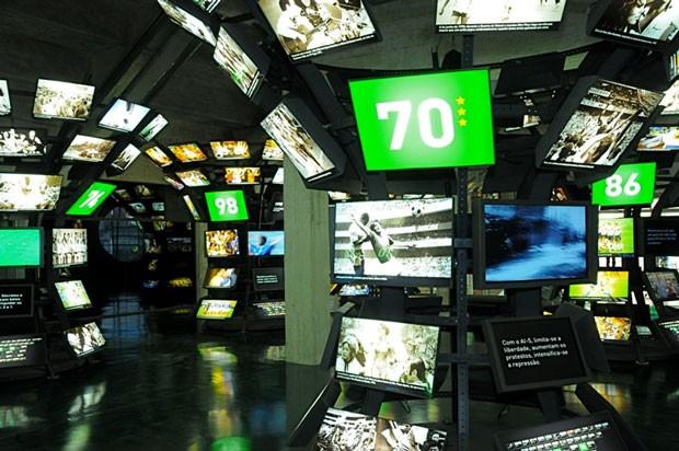 O Museu do Futebol em São Paulo conta histórias e curiosidades do esporte (Foto: Divulgação)