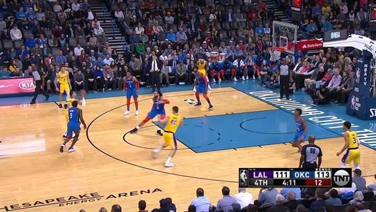 Arbitragem admite erro em falta que forçou a prorrogação entre Thunder e Lakers