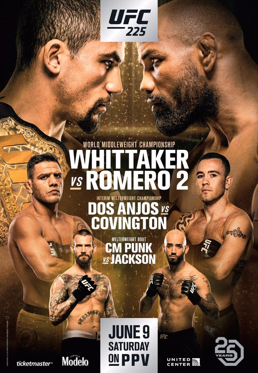 O pôster do UFC 225, evento do próximo dia 9 de junho (Foto: Reprodução/Twitter)