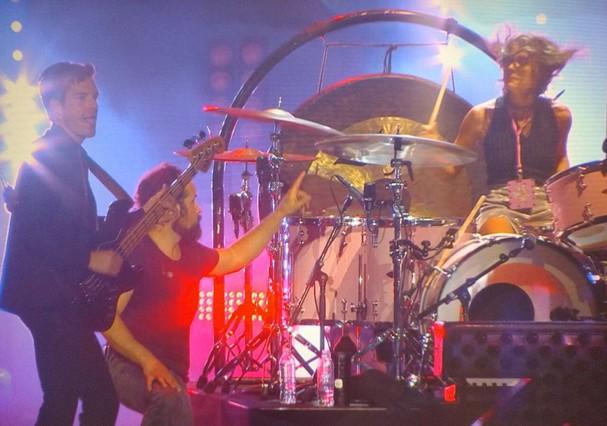 Dedé Teicher tocou bateria no show do The Killers (Foto: Instagram/Reprodução)