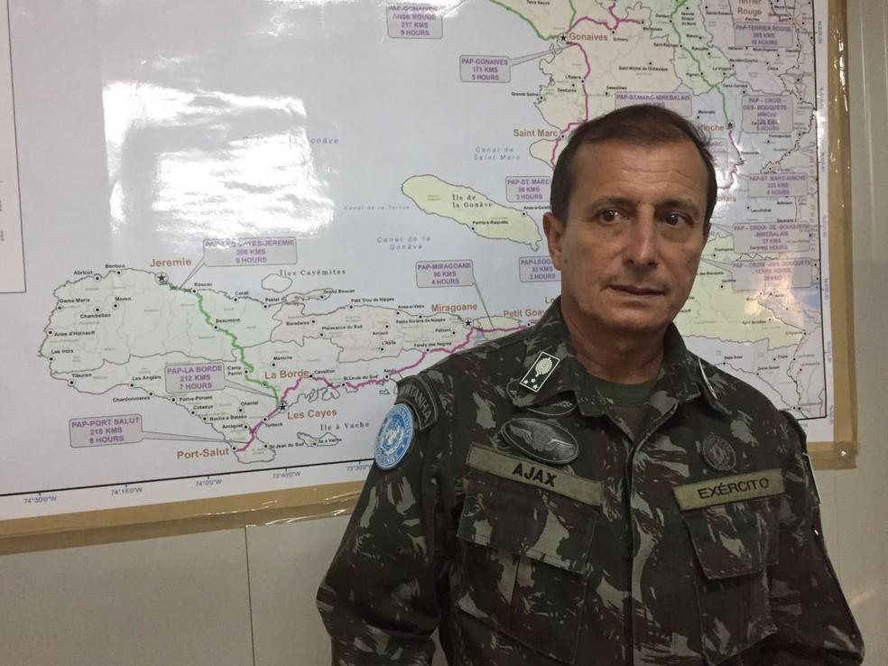 General Ajax Porto Pinheiro, comandante militar da missão de paz da ONU no Haiti (Foto: Tahiane Stochero/G1)