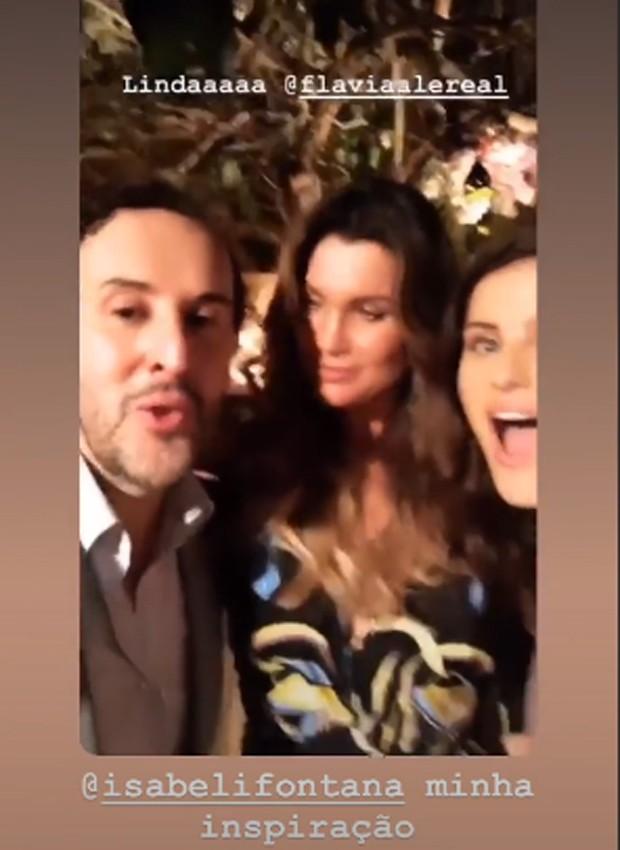 Marcos Proença, Flávia Alessandra e Isabeli Fontana (Foto: Reprodução/Instagram)
