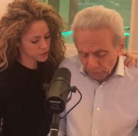 Shakira e pai (Foto: Reprodução Instagram)