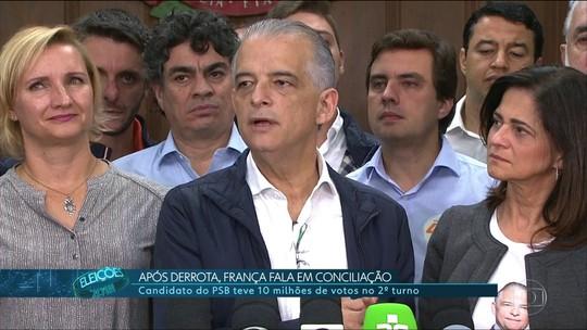 Após derrota, Márcio França fala em conciliação