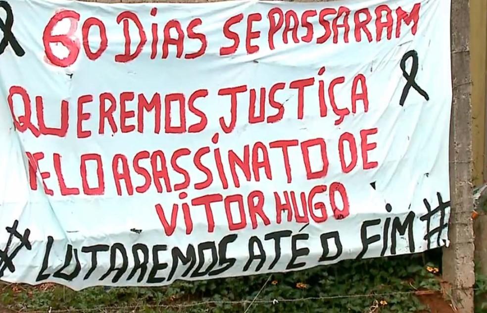 Indígenas pedem justiça após morte provocada por conflito em março (Foto: Reprodução/RBS TV)