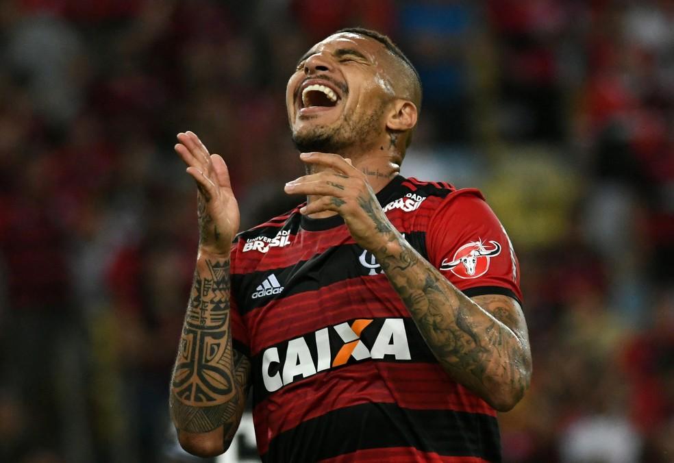 Guerrero, Flamengo x Botafogo — Foto: Alexandre Durão/GloboEsporte.com