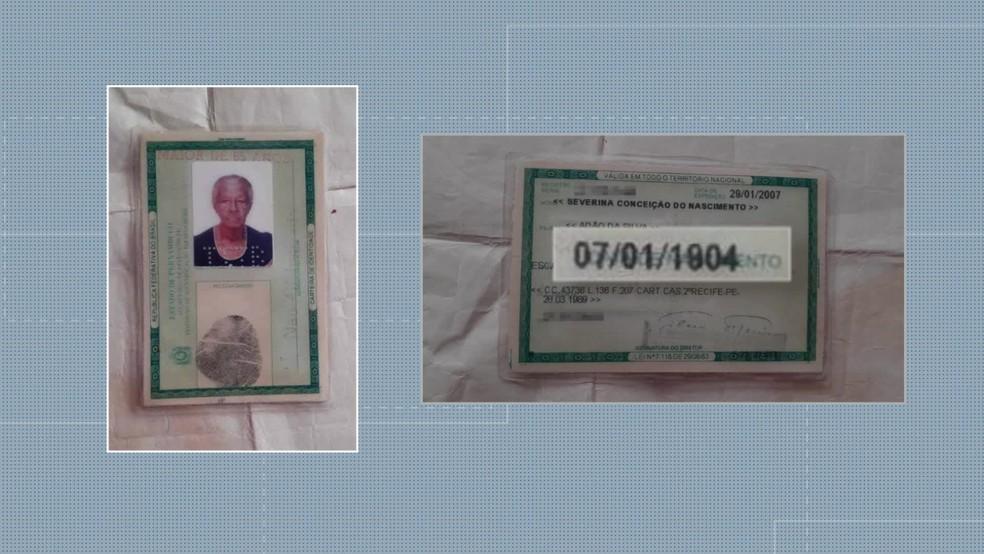 Severina da Conceição do Nascimento nasceu em 1904 e comemora, em 2020, 116 anos — Foto: Reprodução/TV Globo