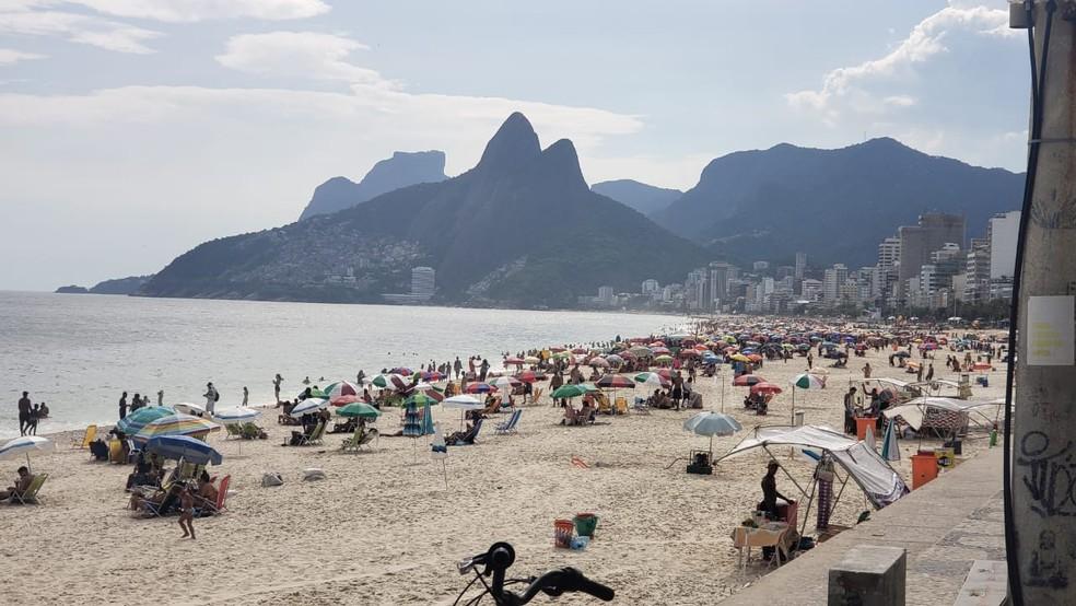 Praia de Ipanema, no rio de Janeiro. — Foto: Eduardo Pierre/G1
