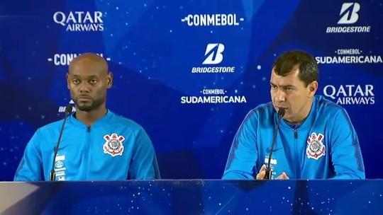 Carille elogia Corinthians, crava Vagner Love como titular do ataque e diz não ter time ideal