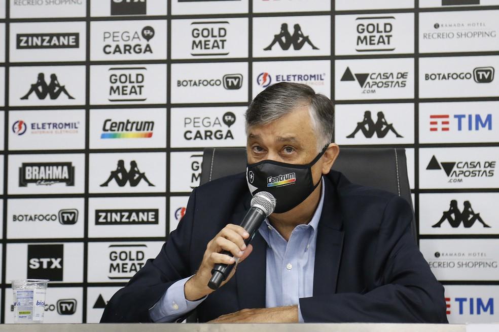 Durcesio vai limitar indicações para dar espaço ao CEO — Foto: Vitor Silva/Botafogo
